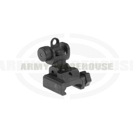 Folding Battle Sight Rear - schwarz (black)