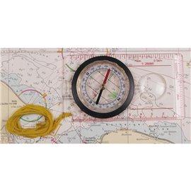 Karten-Kompass mit Lupe und Messeinrichtung