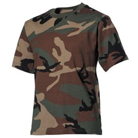Kinder T-Shirt, woodland, halbarm, 170 g/m²