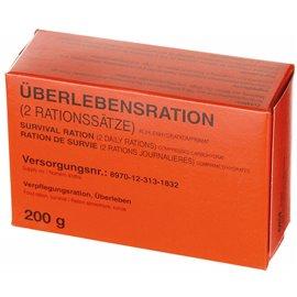 Überlebensration, 1 Pack 200 g, (4 Riegel), Notration-Verpflegung