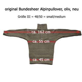 Bundesheer Alpinpullover, Feldpullover schwer - ohne Schulterklappen