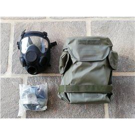 orig. Armee Schutzmaske ABC schwarz mit Filter und Tasche neuwertig