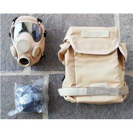 orig. Armee Schutzmaske ABC beige (sand, khaki)  mit Filter und Tasche neuwertig