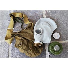 orig. russ. Armee Schutzmaske ABC schwarz mit Filter und Tasche neuwertig