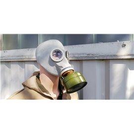 orig. russ. Armee Schutzmaske ABC mit Filter und Tasche neuwertig