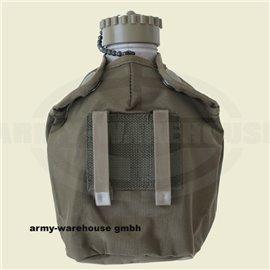 Bundesheer Feldflasche ALU gebr. + M75 Hülle oliv neu