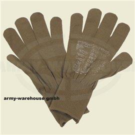 orig. US Fingerhandschuhe, braun,Unterziehhandschuh
