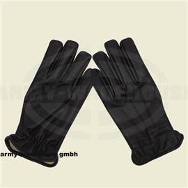 Lederhandschuhe, schwarz, mit schnitthemmender KEVLAR Einlage
