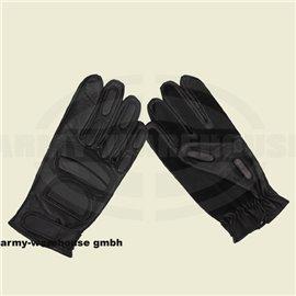 Lederhandschuhe, schwarz, mitPolsterung und Wildlederverst.