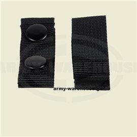 Gürtelhalter, Nylon, 4 Stk.,schwarz, mit 2 Druckknöpfen