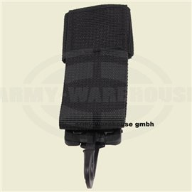 Schlüsselanhänger PD, Nylon,PVC Haken, schwarz