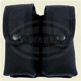 Magazintasche, doppelt, Nylon,schwarz