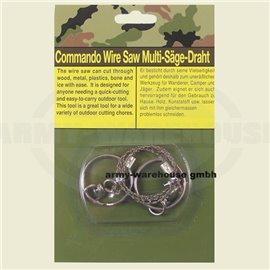 Draht-Säge, mit Ringen,extra stabile Ausführung
