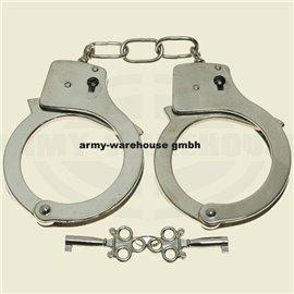 Handschellen mit 2 Schlüssel, chrom
