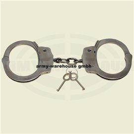 Handschelle, Edelstahl, mitSicherheitsrille, 2 Schlüssel