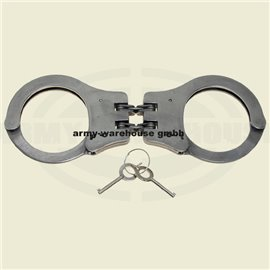 Handschellen mit Doppelkette,stabile Ausführg., 2 Schlüssel