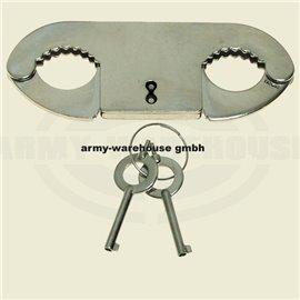 Daumenschellen, Edelstahl, mit2 Schlüssel