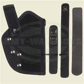 Pistolenholster, Nylon, P1, schwarz, Sicherungsbügel