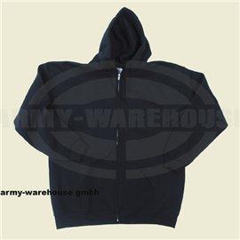 Kapuzen Sweatshirtjacke,PC, 340g/m², schwarz