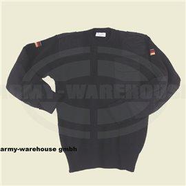 BW Pullover, mit Brusttasche,80% Wolle, 20% Acryl, schwarz