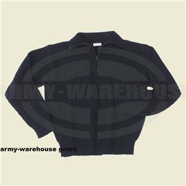 Isländer Pullover, Troyer,schwarz, mit Reißverschluß