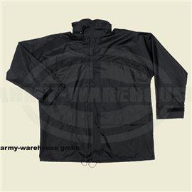 Regenjacke, Polyester mit PVC,schwarz