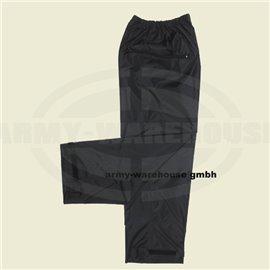 Regenhose, Polyester mit PVC,schwarz