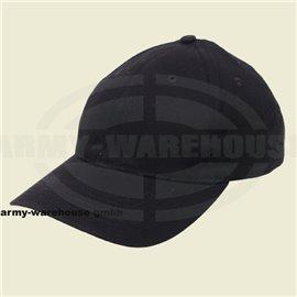 BB Cap, flach, Stofflasche,Messingv., schwarz, gebrascht