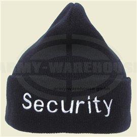 Rollmütze, Acryl, schwarz,silber bestickt, Security