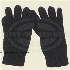 Strick-Fingerhandschuhe,schwarz