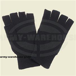Strick-Handschuhe, schwarz,ohne Finger