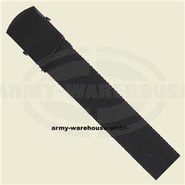 Gürtel, 30 mm, schwarz,mit Metallschloß