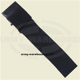 Gürtel, schwarz, 4,5 cm breit,mit Metallkastenschloß