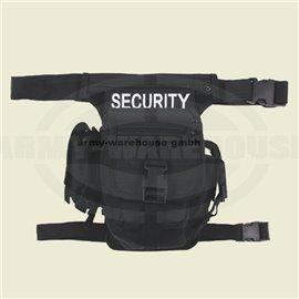 """Hip Bag, \""""SECURITY\"""", schwarz,Bein- und Gürtelbefestigung"""