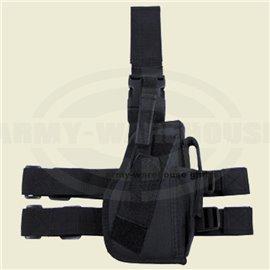 Pistolenbeinholster, schwarz, Bein- und Gürtelbef., rechts
