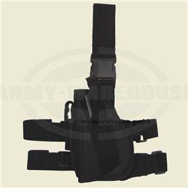 Pistolenbeinholster, schwarz, Bein- und Gürtelbef., links