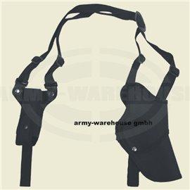 Pistolenschulterholster, re., schwarz, mit Magazintasche
