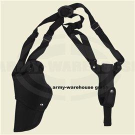 Pistolenschulterholster, links, schwarz, mit Magazintasche