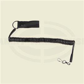Sicherheitsband für Pistole,schwarz, mit Karabiner