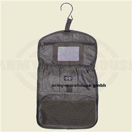 Waschzeugtasche, oliv, div. Taschen, rollbar