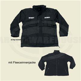Jacke, Security, schwarz, wasserdicht, antistatisch