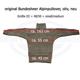 Bundesheer 5 Stück österr. BH Alpinpullover, Feldpullover schwer