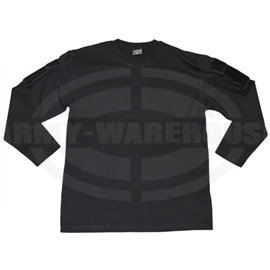 US Shirt, langarm, schwarz, mit Ärmeltaschen