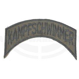 Bundesheer Abzeichen, Kampfschwimmer Schriftzug, orig. JaKdo Aufnäher