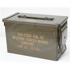 orig. US Munitionsbox für CAL .50, 110 CTGS, Ammunition Box Spotter Tracer M48A2