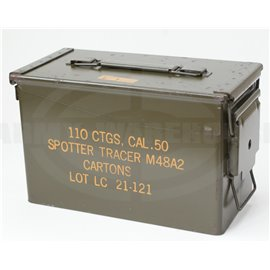 orig. US Munitionsbox für CAL .50, 110 CTGS, Ammunition Box Spotter Tracer M48A2