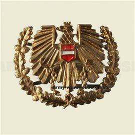 österr. Bundesheer Barett/Tellerkappen-Abzeichen, ÖBH Adler, BH, gold