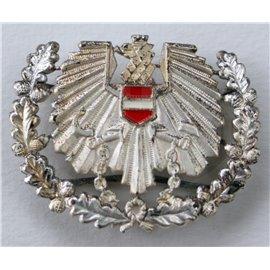 österr. Bundesheer Barett/Tellerkappen-Abzeichen, ÖBH Adler, BH, silber - gebraucht