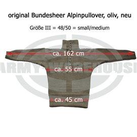 Bundesheer Alpinpullover, Feldpullover schwer - mit Schulterklappen