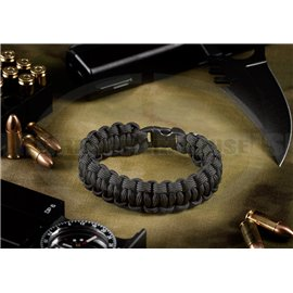 Paracord Bracelet Compact - schwarz (black)